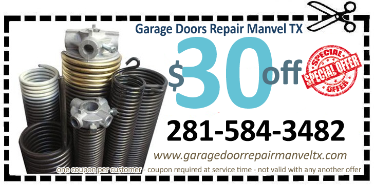 Garage Door Repair Manvel TX Coupon